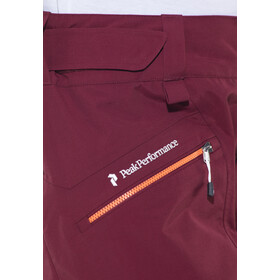 Peak Performance Radical 3L Pantalones Mujer, cabernet